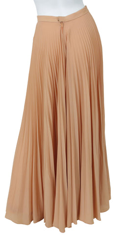 1970's Blush Accordion Pleat High Waited Palazzo Pants