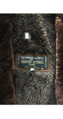 1970s Men's Brown Shearling & Suede Double-Breasted Coat