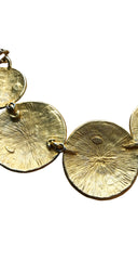 1970s Deadstock Gold Tone Medallion Necklace