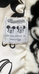 1990s Mickey Mouse Disney Print Faux Fur Coat