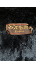 1980s Black Cashmere & Wool Fur Trim Coat