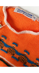 1970s NOS Neon Orange Sweater 6M