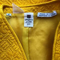 1980s Yellow Quilted Cotton Double-Breasted Blazer