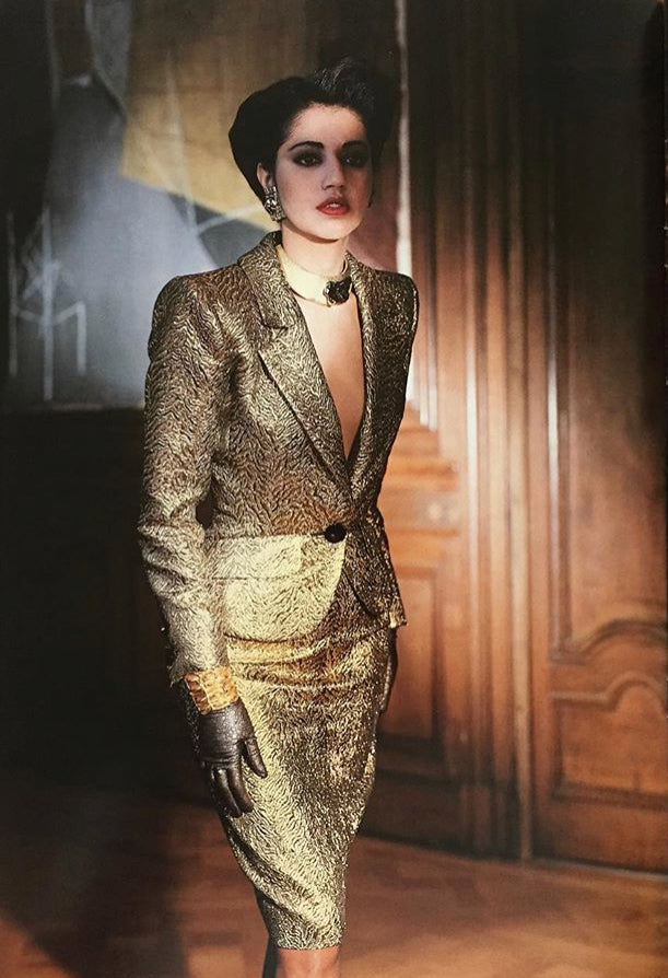 1986-87 F/W Opium Ad Campaign Gold Brocade Jacket
