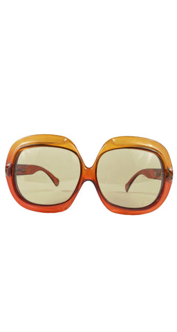 1970s Optyl Orange Gradient Oversized Sunglasses