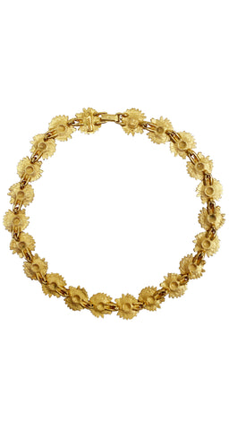 1990s Daisy Chain Gold-Tone Necklace