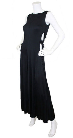 1969 Documented Black Cut-Out Jumpsuit
