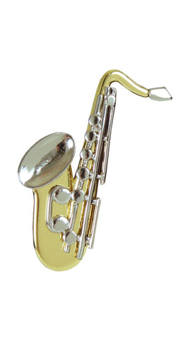 1980's Gold Tone Saxophone Brooch