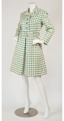 1960s Mod Check Cream Wool Coat