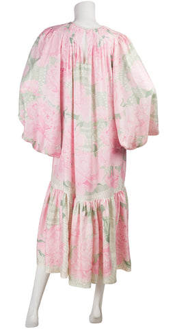 "1978 Custom ""Les Pivoines"" by Christiane Vauzelles Scarf Dress"