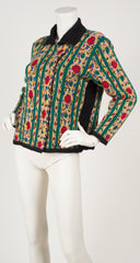 1980s Colorful Wool Double-Breasted Cardigan