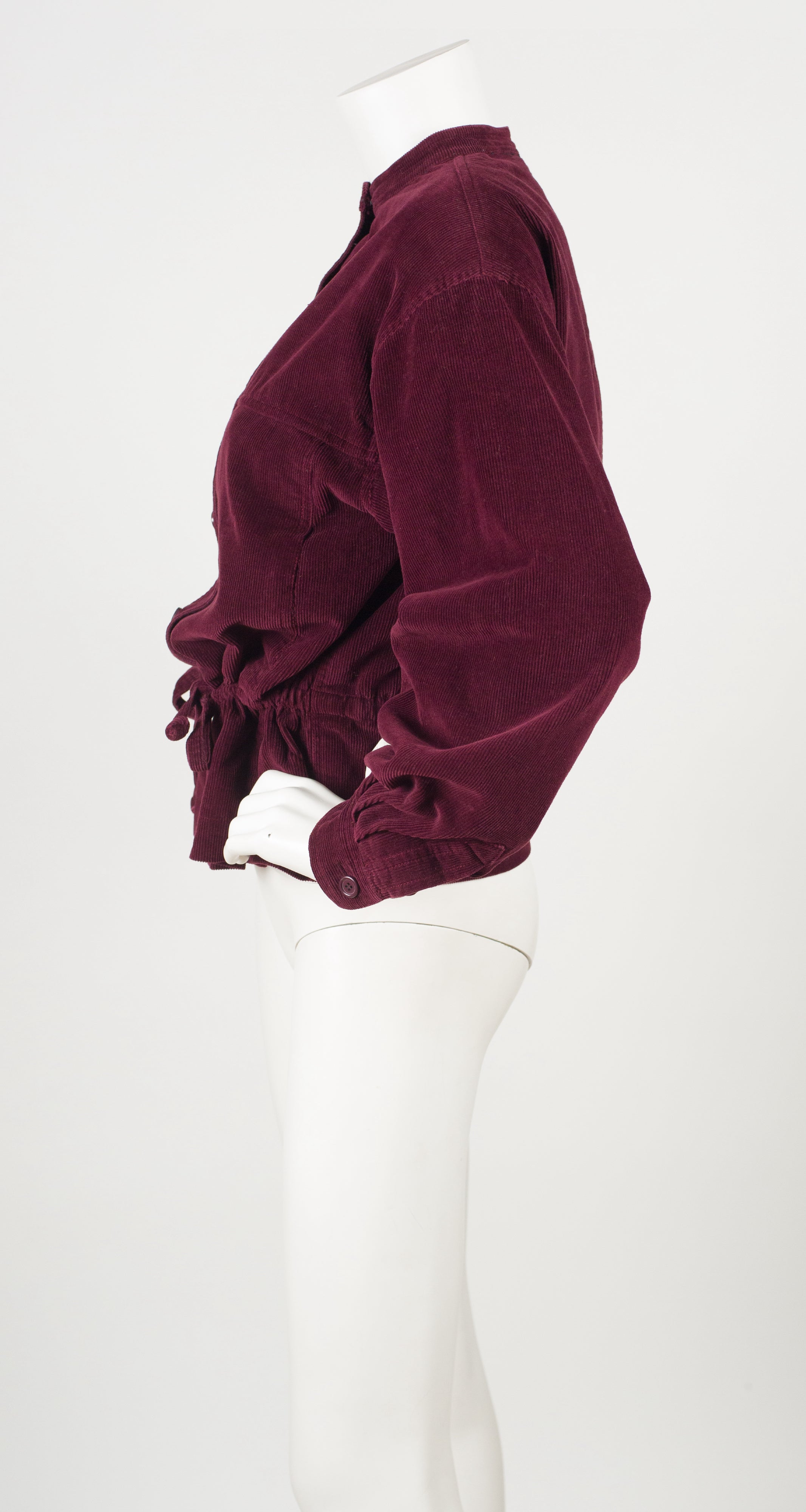 1977 Documented Burgundy Cotton Corduroy Jacket