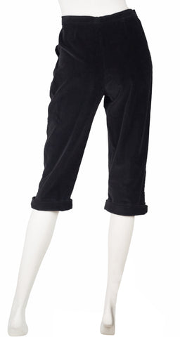 1970s Black Corduroy High-Waisted Breeches