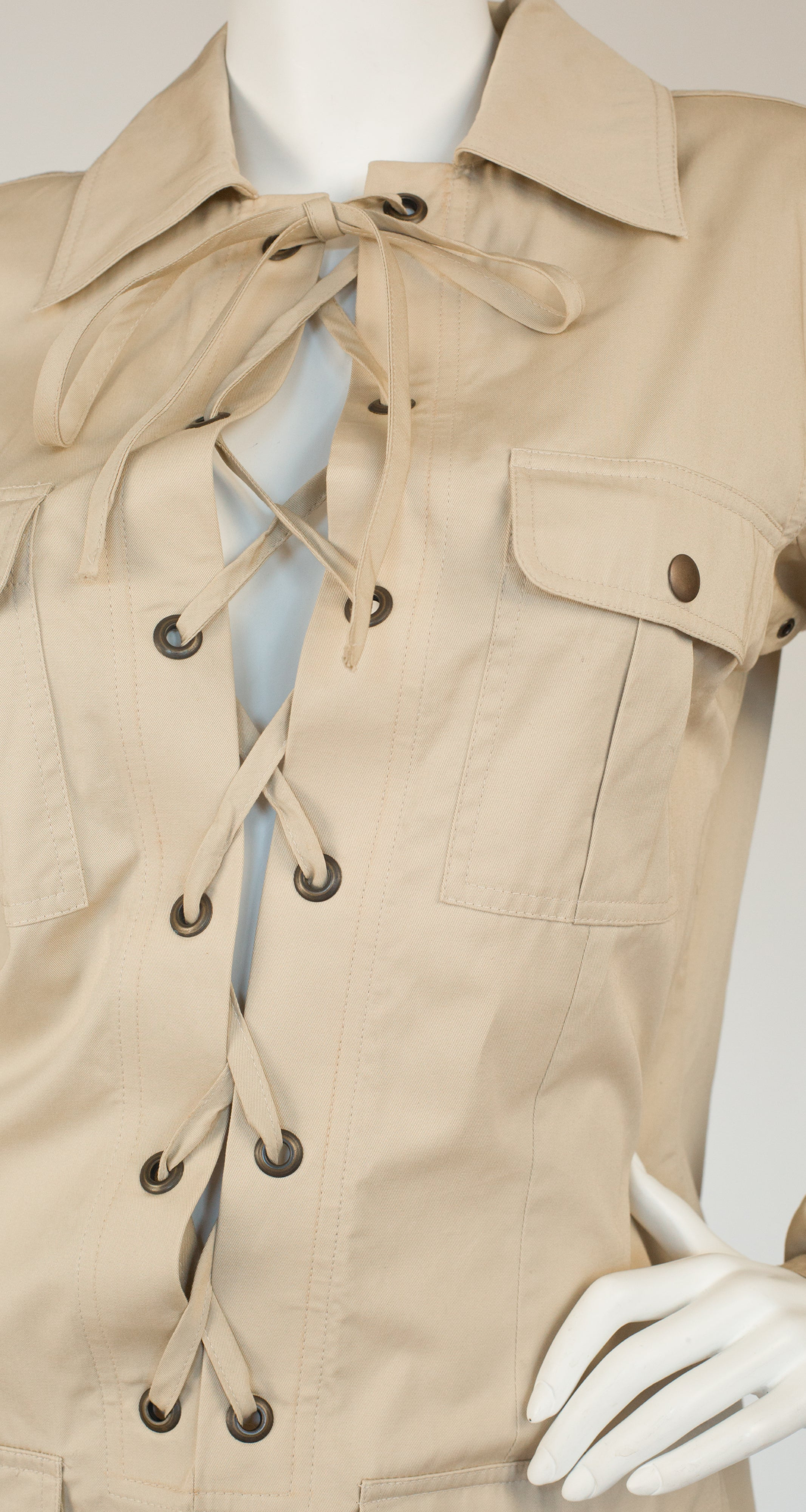 1990s NWT Reissue of the Iconic 1968 Safari Lace-Up Tunic