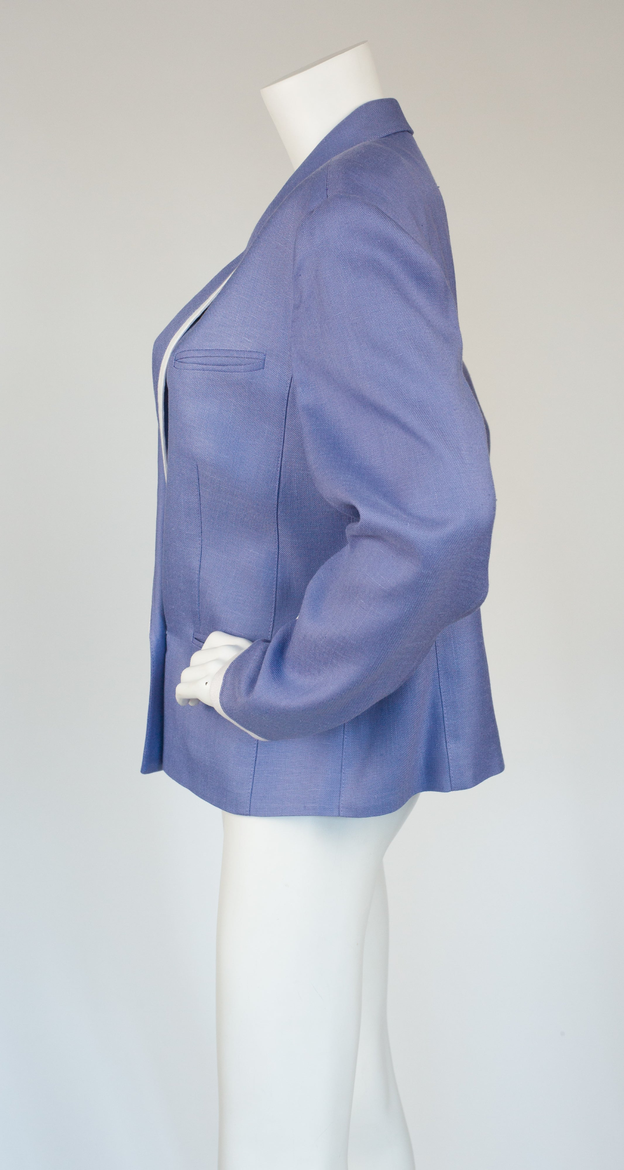 1980s Lavender Collared Blazer Jacket