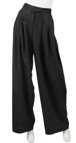 Recent Black High-Waisted Wide Leg Pants