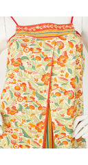 1976 S/S Documented Floral Cotton Summer Dress