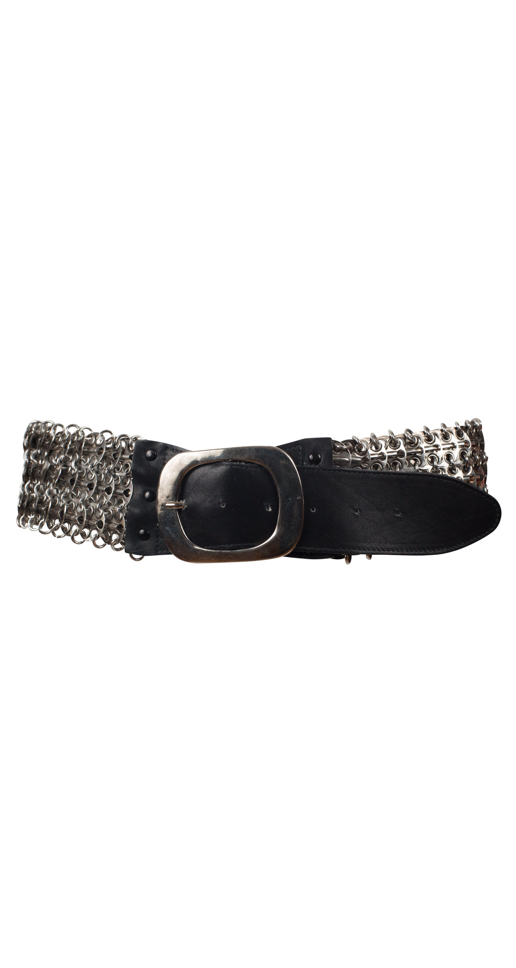 1960s Paco Rabanne Style Metal Chain Mail Belt