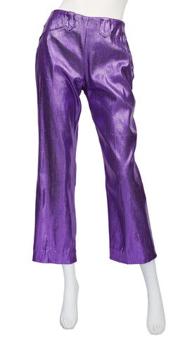 1950s California Ranchwear Purple Lurex Pants