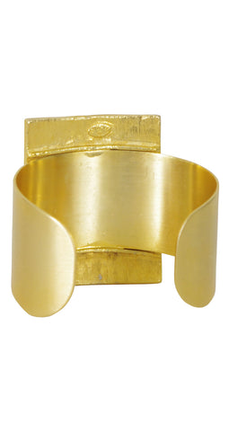 1970s Deadstock Modernist Large Gold Tone Cuff