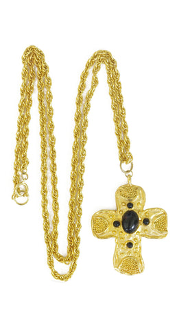 1970's Deadstock Long Chain Cross Necklace
