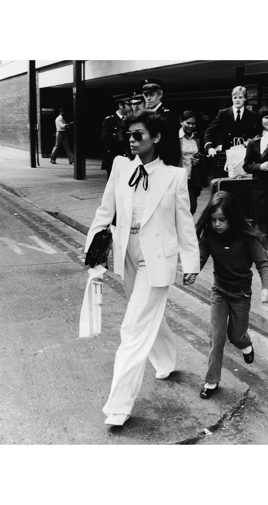 c.1979 Documented Bianca Jagger White Pantsuit