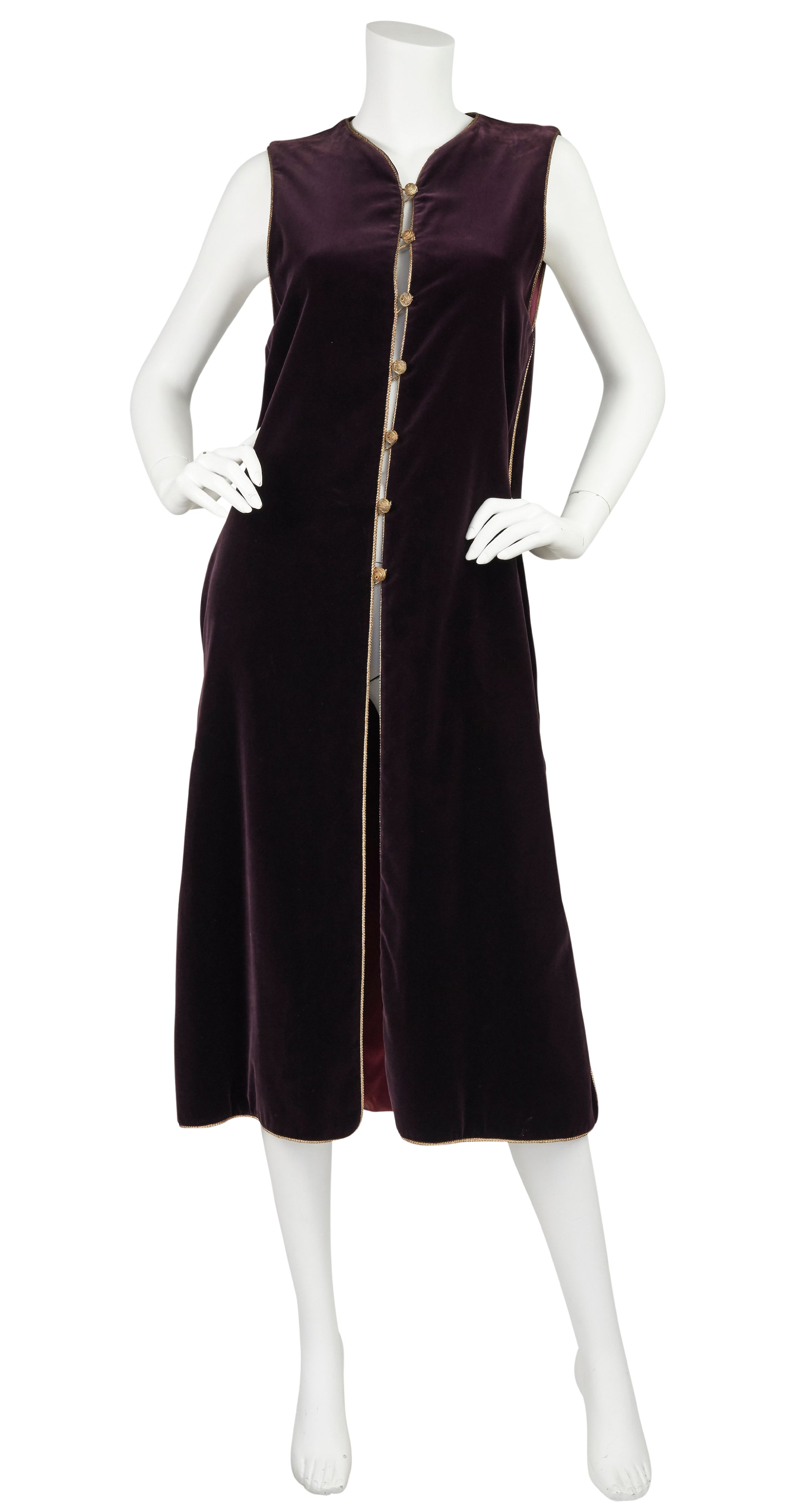 1976 F/W Documented Russian Collection Dark Purple Velvet Tunic