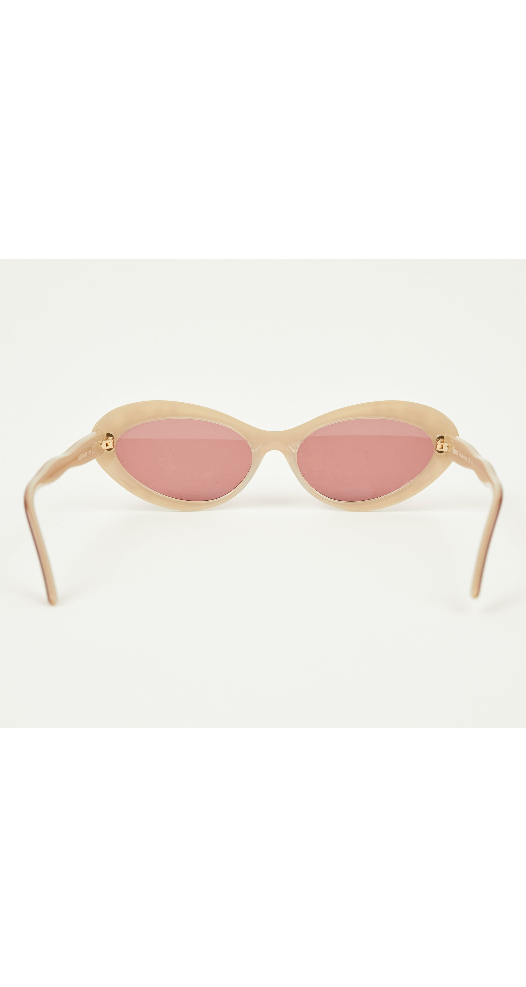 1950s Style Gold & Pink Cat Eye Sunglasses Mod. AS50404