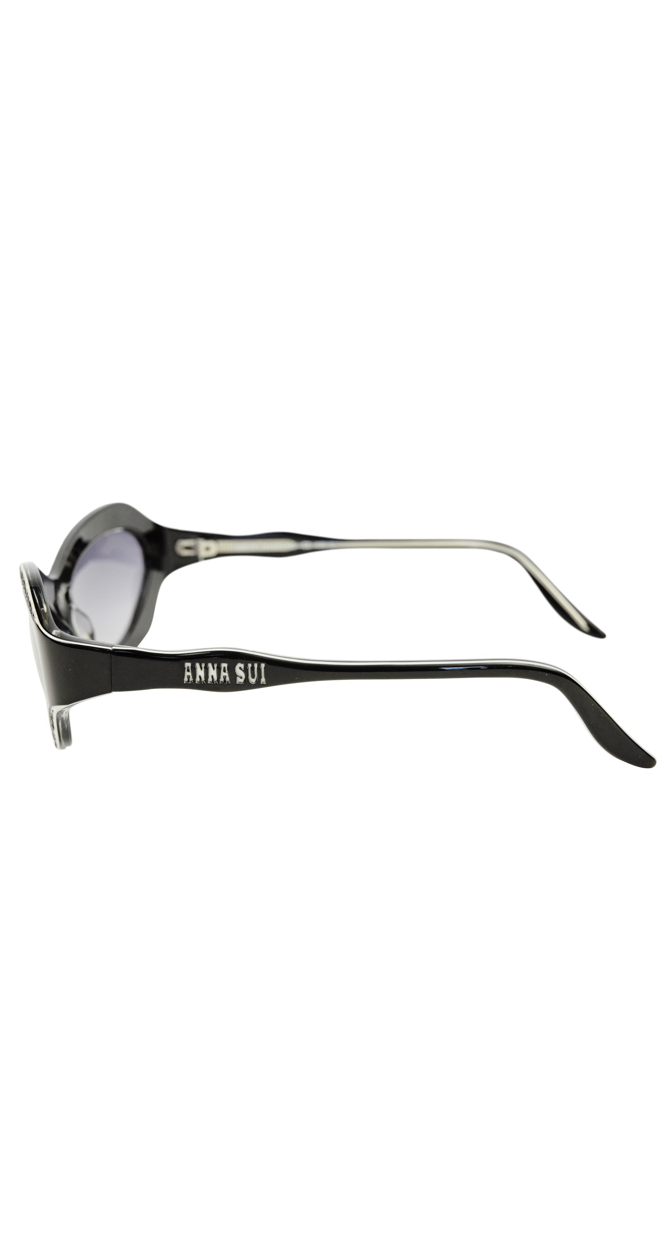 1950s Style Black & White Cat Eye Sunglasses Mod. AS50101