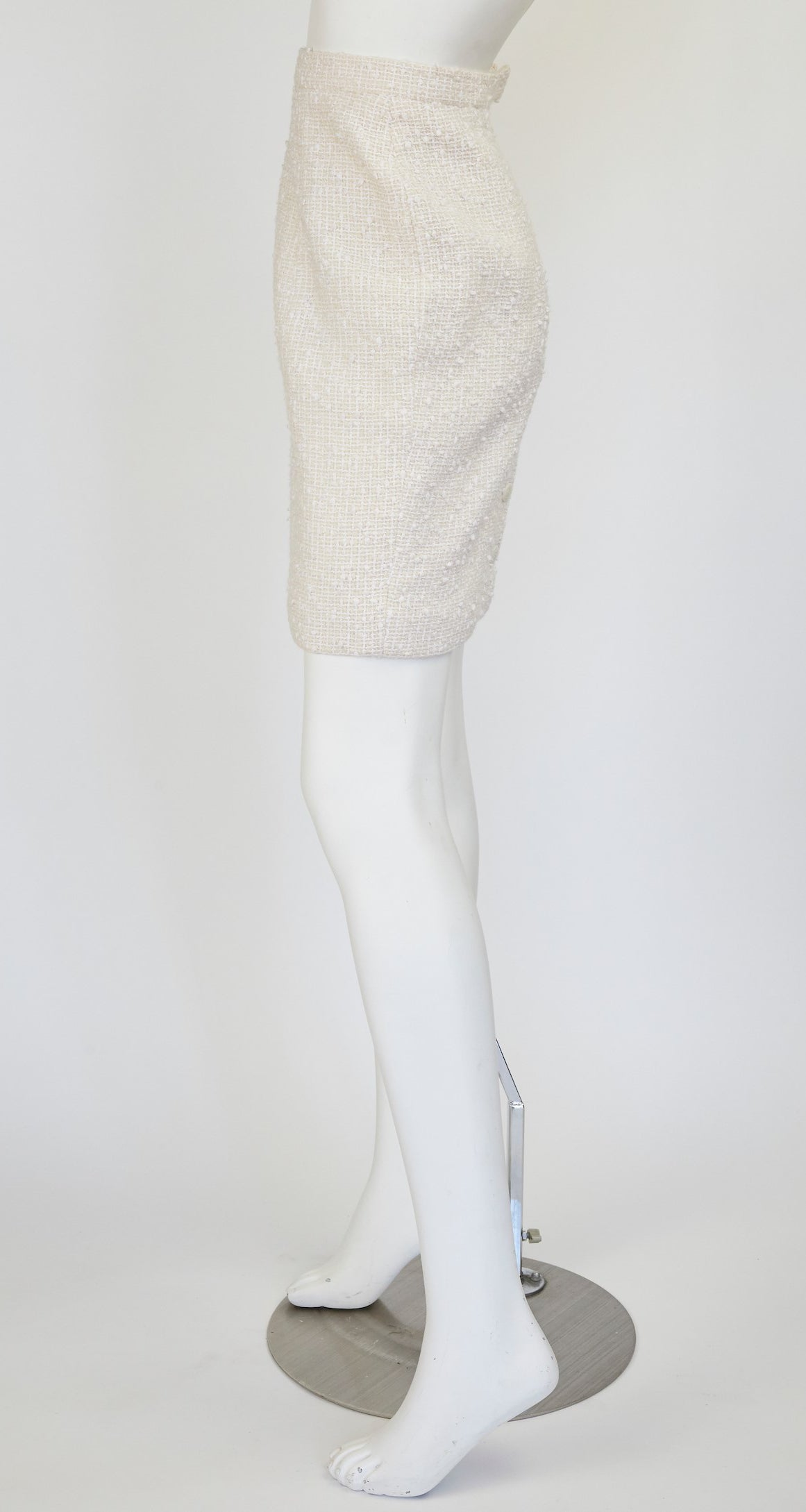 1996 Cruise Cream Bouclé High-Waisted Mini Skirt