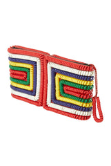 1940s Multi-Color Telephone Cord Wallet