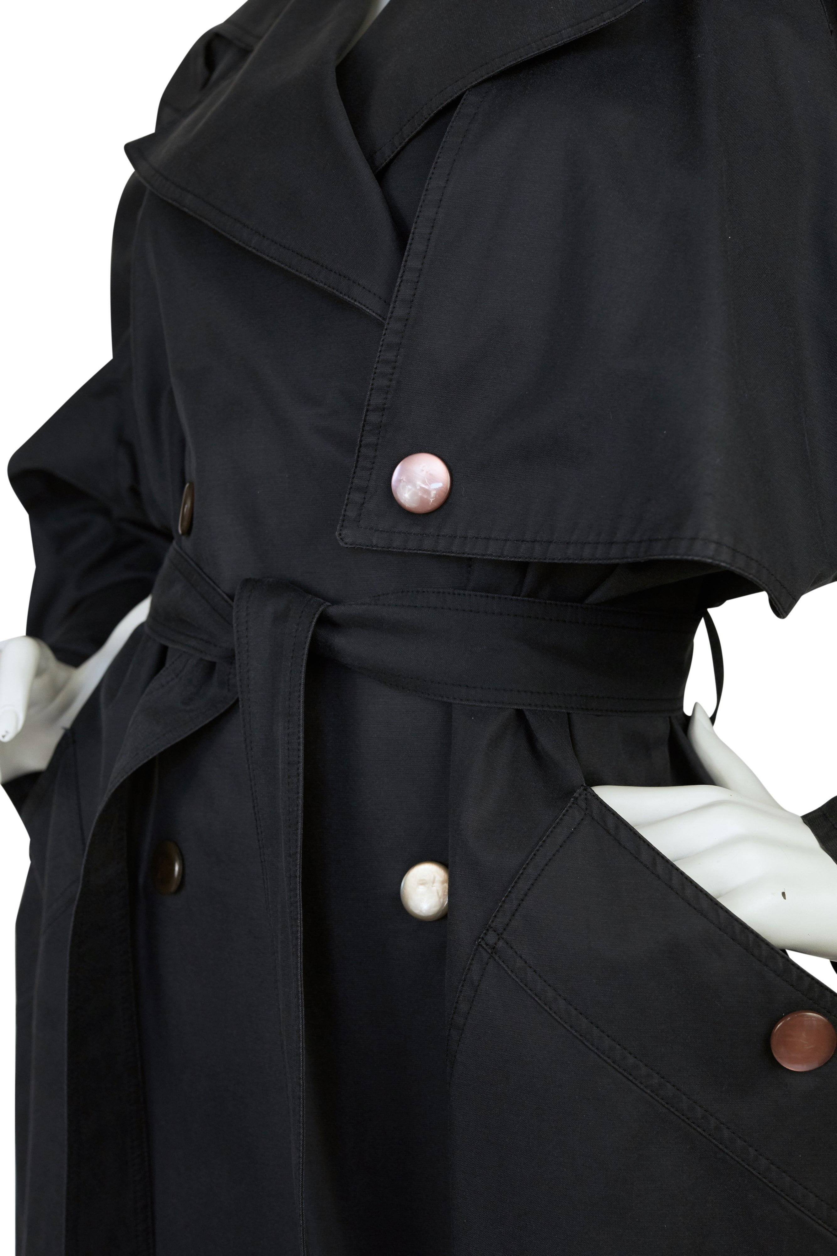 1980s Avant-Garde Double Breasted Trench Coat