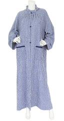 Haute Couture 1970's Striped Terry Cloth Caftan Robe