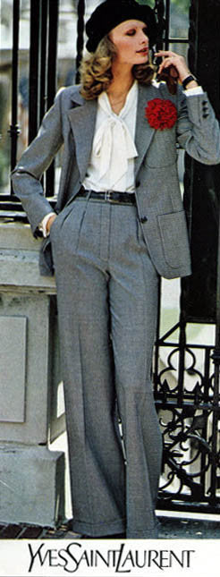 1974 S/S Haute Couture Documented Wool Pant Suit