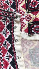 Antique Embroidered Traditional Russian Peasant Blouse