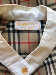 1970s Nova Check Wool Challis Blouse