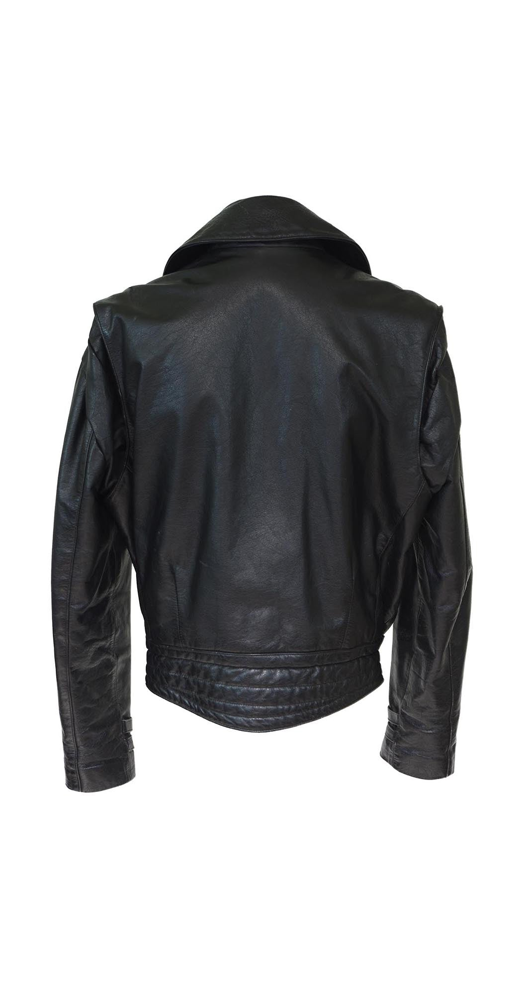 1980's Johnsons Black Leather Motorcycle Jacket
