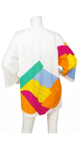 c. 1981 Suomi-Finland Abstract Cotton Tunic