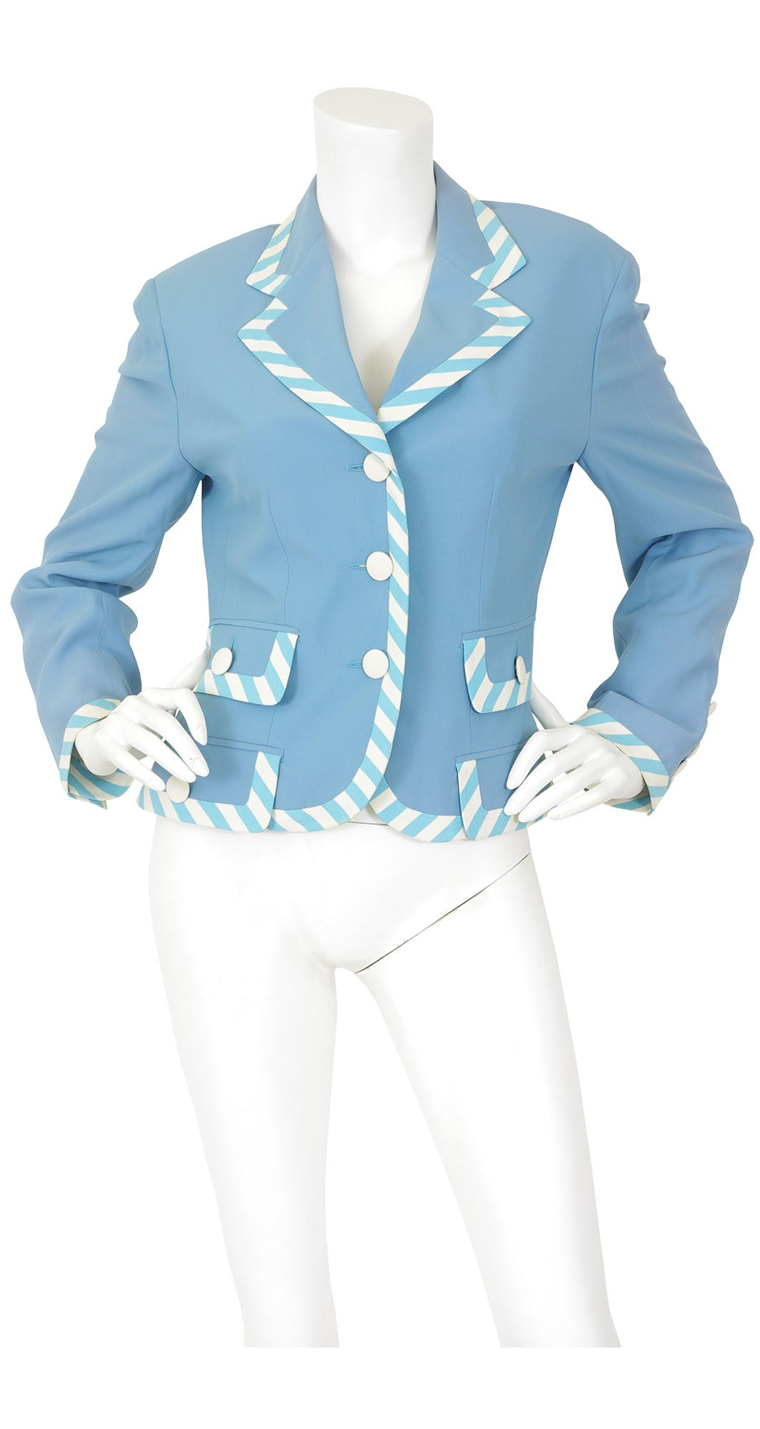 """Cruise Me Baby"" Venice Blue Striped Jacket"