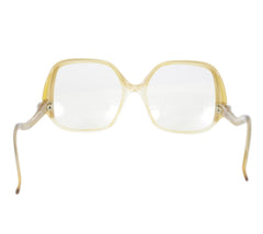 1970s French Oversized Eyeglasses Frames