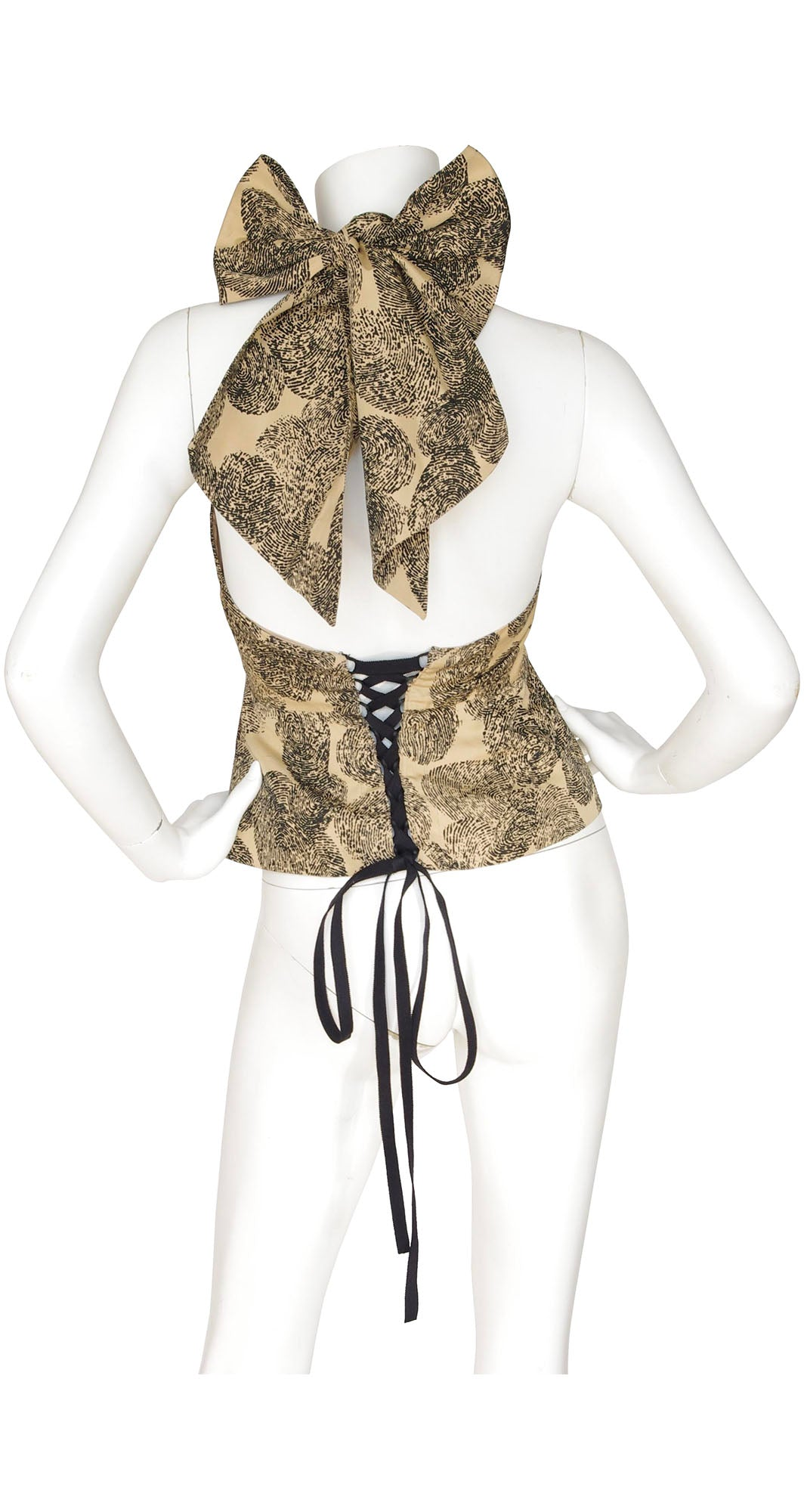 "2011 S/S Runway ""Thumbprint"" Corset Halter Top"