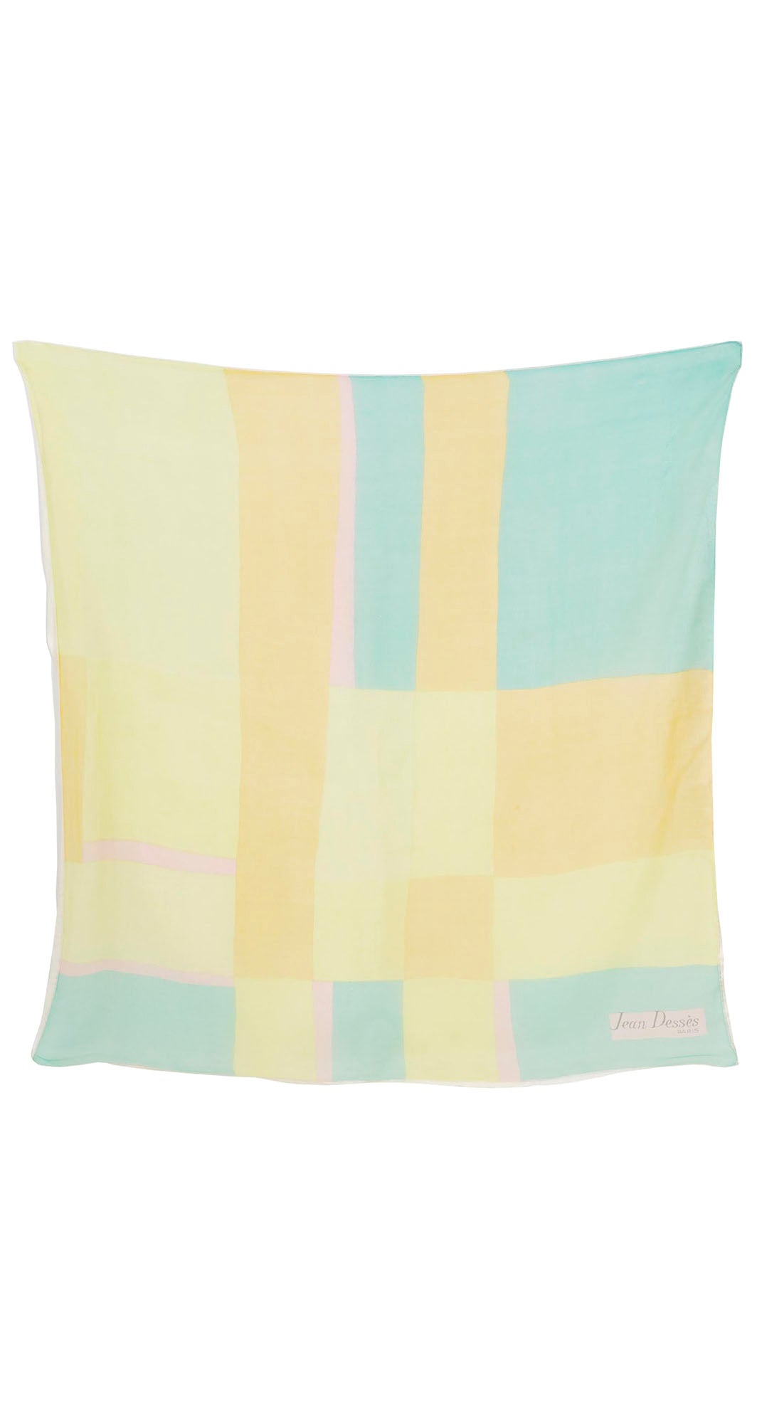 1960s Mod Pastel Silk Double Layer Scarf