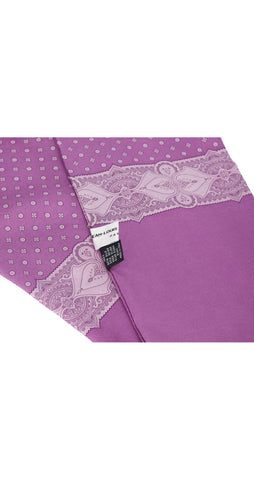 Men's Purple Silk Long Neck Scarf