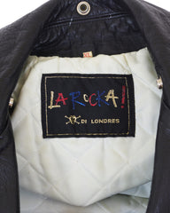 1980s Johnsons Black Leather Motorcycle Jacket