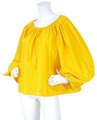 c. 1992 Dramatic Huge Balloon Sleeve Cotton Blouse