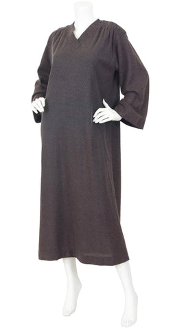 1978 Documented Brown Caftan Dress