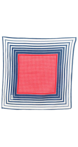 1970s Red, White & Blue Cotton Scarf