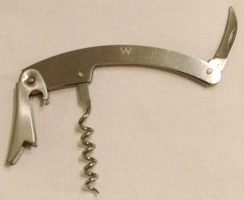 Waiters Style Stainless Steel Corkscrew