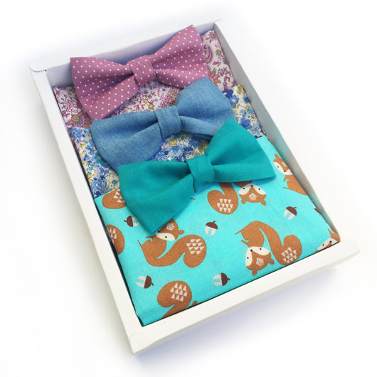 Squirrel & Paisley 3 Pack Bandana Gift Box