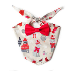 Christmas Sweater Party Bow Tie Bandana